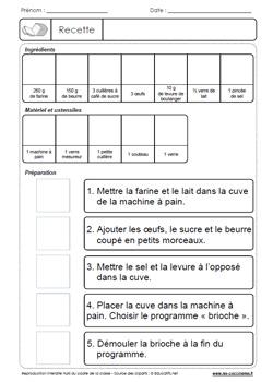 Recettes En Classe Exercices De Lecture Gs Cp Ce1 Ce2 Ulis A Partir De Recettes Faciles A Realiser En Classe Les Coccinelles