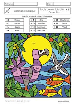 Coloriage Magique X10 X100.Coloriages Magiques Gs Cp Ce1 Ce2 Les Coccinelles